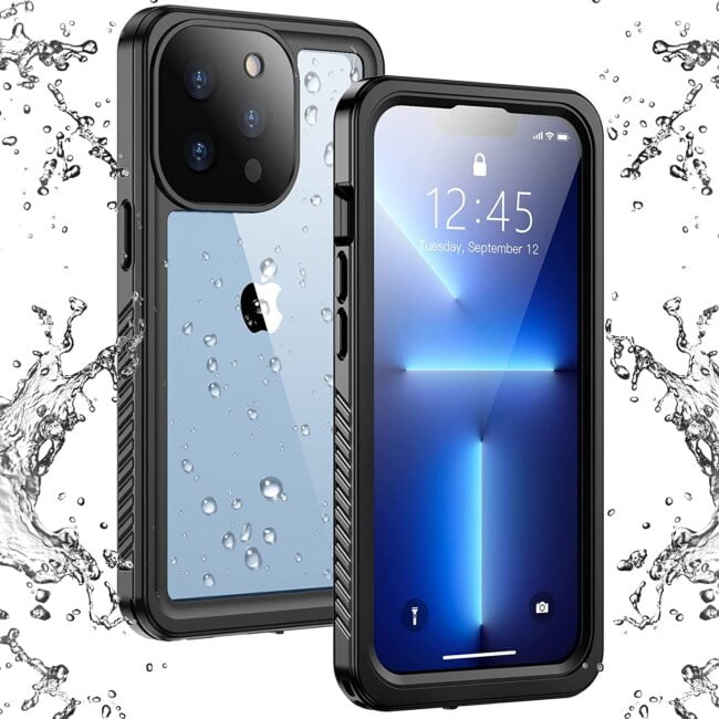 iPhone 13 Pro Max Case Waterproof, Built in Screen Protector Full Body Rugged Heavy Duty Protection